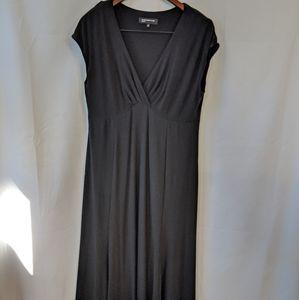 Black sleeveless Jones New York midi dress
